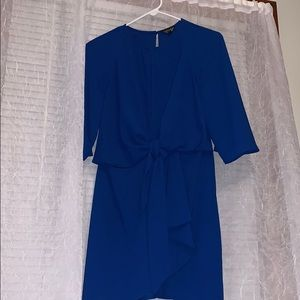 💙royal blue topshop bell sleeve dress